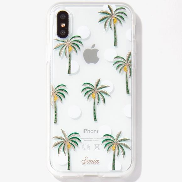 new product bb9ad 49924 Sonix Bora Bora iPhone X Clear Case Palm Tree NWT